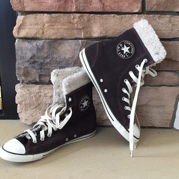 3694589a25e Converse Shoes - Women's Fuzzy Converse - barely worn